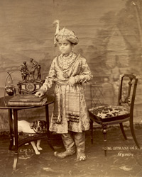 [Portrait of] the Maharaja of Mysore [Krishnaraja Wadiyar].